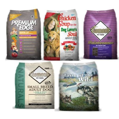animal feed - dog and cat foods